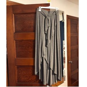 NWOT Grey casual t-shirt skirt